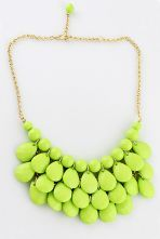 Charming Style Shine Light Green Beads Necklace $9.8  #SheInside