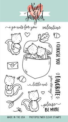 Neat and Tangled HAPPIER THAN Photopolymer Clear Sentiments Stamps Set USA made