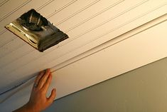 The House of Smiths - Home DIY Blog - beadboard ceiling