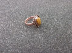 Tigers Eye statement copper ringcopper statement by KZJewelryArt #copperring #tigereye #copperjewelry #statementring #bohoring #ring #copperstatementring
