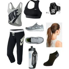 Workout Outfit Nike Outfits, Moda Outfits, Outfits Mujer, Sport Outfits, Sport Fashion, Look Fashion, Fitness Fashion, Fitness Outfits, Fitness Wear