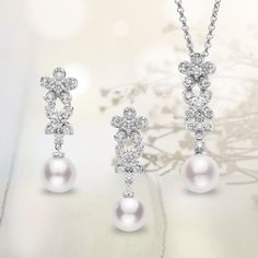 The delicate designs of Mikimoto's Bouquet Collection radiate the freshness and lightness of nature's wildflowers.