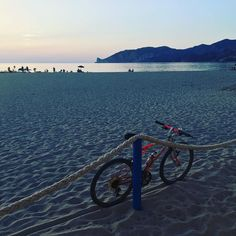 Beach #sardinia #nature #summer #beach #dj #djlife #djing #tixilife #tixi #relax #bike #sand #sunset
