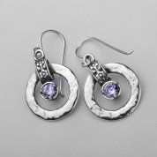 Designer #earrings | sterling silver earrings | zircon earrings| Israeli  jewelry