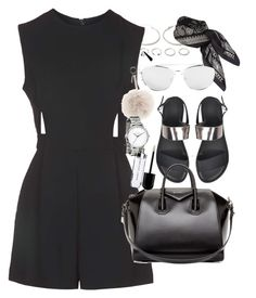 """""""Outfit for shopping"""" by ferned ❤ liked on Polyvore featuring Forever 21, Topshop, Givenchy, DKNY and Fendi"""