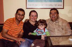 El gran Maestro Victor Moreno con su familia, honradísimos con su visita. Todo un mentor