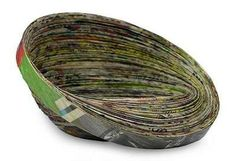 Recycled paper decorative bowl, 'Abstract News' by NOVICA Paper Bowls, Recycled Magazines, Sustainable Gifts, Green Gifts, Paper Houses, Paper Jewelry, To Color, Pottery Bowls, Holiday Gift Guide