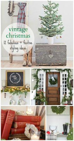Vintage Christmas-12 Fabulous + Festive Styling Ideas
