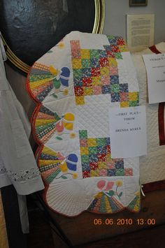 such a cute border idea - 1930's reproduction feedsack quilt, 1930's fabrics, feedsack fabrics