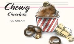 Chewy Chocolate Ice Cream                              -                                  Schokoladeglace mit Toffifee® und weisser Schokolade