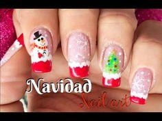 Diseño de uñas Navidad - Christmas Nail art - YouTube Christmas Nail Art, Nail Tutorials, Diy, Instagram, Painting, Nailart, Youtube, Image, Christmas Nail Designs