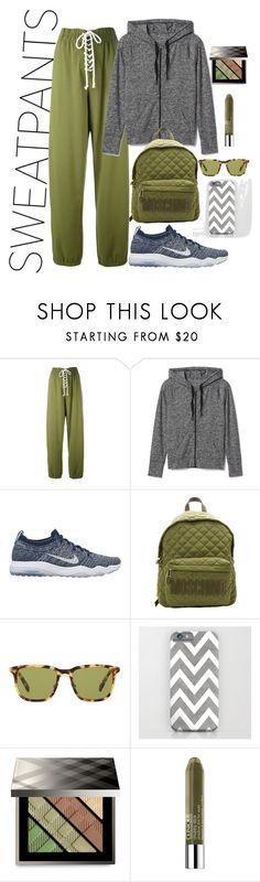"""""""cash"""" by mamatee1917 ❤ liked on Polyvore featuring Puma, Gap, NIKE, Moschino, Prada, Burberry and Clinique"""