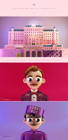 The Grand Hotel Budapest. Tribute to W.A. on Behance