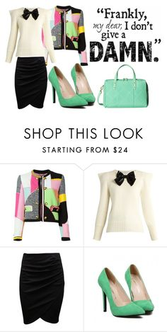 """{Business Plan}"" by bumbledbeee ❤ liked on Polyvore featuring Moschino, Yves Saint Laurent and Vera Bradley"