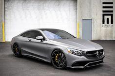 Mercedes-Benz w222 S63 W12 AMG - on VOSSEN Wheels \ matt grey collor