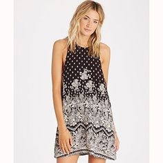 Listed Price: $49.95 Sale Price: $49.94 Allover printed woven sleeveless swing dress with keyhole back neck detail.... Read more...