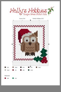 Gufetto Cross Stitch Christmas Cards, Xmas Cross Stitch, Cross Stitch Needles, Beaded Cross Stitch, Christmas Cross, Cross Stitch Charts, Cross Stitching, Cross Stitch Embroidery, Modern Cross Stitch Patterns