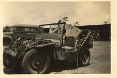 Army Jeep, wrecked by campcounts, via Flickr