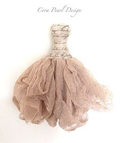mixed media paper dresses | Hand made Fairytale Paper Dress Mixed media by CoraPearlDesign, £30 ...