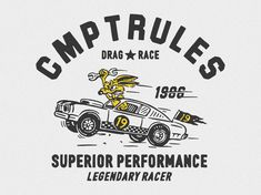LEGENDARY RACER designed by cmpt_rules. Connect with them on Dribbble; Badge Design, Flag Design, F1 Posters, Brand Identity Design, Branding Design, Big Shot, Photography Logos, Apparel Design, Cartoon Styles