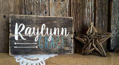 Baby Name Custom Rustic Sign