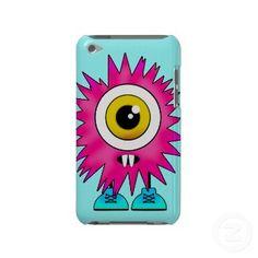 Pink Splatty Monster iPod Touch Case