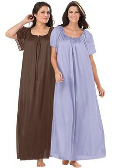 2-pack nightgown by Only Necessities® | Plus Size Nightgowns | OneStopPlus