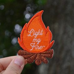 Campfire Patch, Rock Patches, Light My Fire, The Doors Patch, Camping Patch, Patch for Backpack, Outdoors Patch, Iron On Patches for Jacket by RambleOnSupplyCo on Etsy https://www.etsy.com/listing/548321714/campfire-patch-rock-patches-light-my