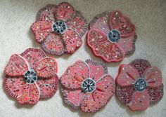 Oak Hill School,  Alderton,  Glos. - Remembrance Day Poppies 2014 Remembrance Day Poppy, Oak Hill, Mosaic Projects, Poppies, Crochet Earrings, School, Schools, Poppy Flowers, Mosaic Designs