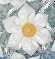Folded Fabric Flower - Jonquil flowers at FoldingFlowers.com
