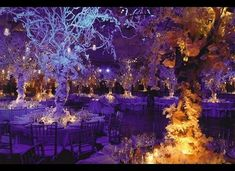50 Romantic Wedding Ideas That Are Straight Out Of A Fairy Tale Loft Wedding Reception, Winter Wedding Receptions, Winter Wedding Decorations, Reception Decorations, Wedding Venues, Purple Winter Weddings, Purple Wedding, Dream Wedding, Classic Wedding Themes