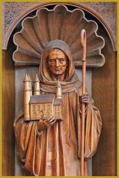 Saint Déodat ou Saint Dié en ermite - Abbaye Saint-Maurice - Ebersmunster, Bas-Rhin (France) - Photo Yves Noto Campanella