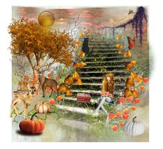 """""""Autumn daydreaming"""" by katiegreen-5 on Polyvore featuring art"""