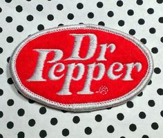 Vintage Dr Pepper Embroidered Sew-On Patch by LostThenFoundPatches Cool Patches, Pin And Patches, Sew On Patches, Patch Shop, Soda Fountain, Dr Pepper, Looks Cool, Stuffed Peppers, Coca Cola