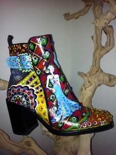 Thinking about painting boots for my store...