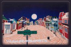 Beautiful Newfoundland artwork captured by artist James Long Newfoundland And Labrador, Home And Away, Great Places, Art Pieces, Fine Art, St John's, Street, Artwork, Artist