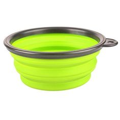 New Collapsible foldable silicone dow bowl candy color outdoor travel portable puppy doogie food container feeder dish on sale
