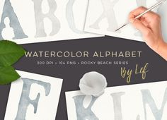 Watercolor Alphabet Graphics by By Lef on @creativemarket
