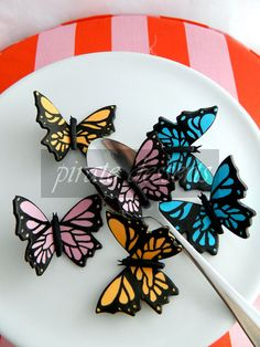 Cake topper MALIBU Blue Monarch Butterfly by PirateDessert, $10.00