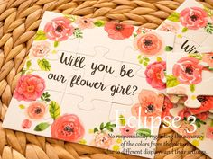 Will You Be my Flower girl Flower girl Puzzle  by BoutiqueEclipse