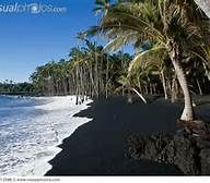 Kalapana Black Sand Beach Hawaii - Jessica & I spent several days on the beach during a time when the turtles were coming to shore to lay their eggs!  Gorgeous!!