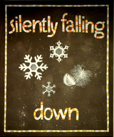 Silently falling down. Anne Fridholm