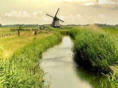 windmills, holland, netherlands