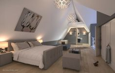 Prodigious Useful Tips: Attic Interior Living Room attic renovation ideas. Attic Master Bedroom, Attic Rooms, Attic Spaces, Bedroom Loft, Home Bedroom, Attic Bathroom, Master Suite, Bathroom Marble, Remodel Bathroom