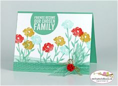Stampin Up Painted Petals for Stamping and Blogging Sketch Challenge #106 - card by Sandi @ www.stampingwithsandi.com
