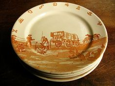 Cowboy Dinner Plates & Boots and Saddle Western Ranch Style Cowboy Dinnerware Dishes by ...
