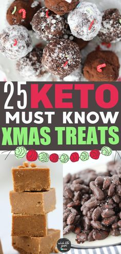 Healthy Christmas Treats, Christmas Desserts Easy, Christmas Cookies, Low Carb Candy, Keto Candy, Keto Holiday, Holiday Recipes, Dinner Recipes, Sugar Free Candy