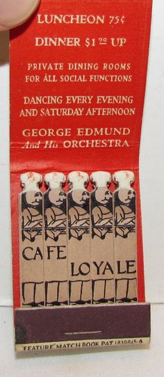 #FeatureMatches Cafe Loyale To order your business' own branded #matchbooks or #matchboxes GoTo: www.GetMatches.com or Call 800.605.7331 Today!