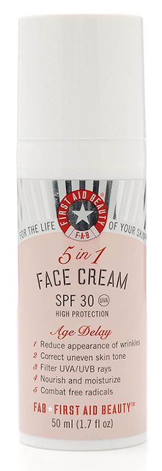 First Aid Beauty: 5 In 1 Face Cream with SPF 30- Fight Signs of Aging - amazing propylene glycol free face cream!