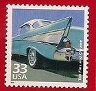 57 CHEVY 1957 CHEVROLET POSTAGE STAMP POSTAL 33 CENT STAMP NEW UNUSED! LQQK WOW!